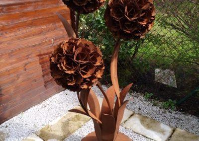 Blumen-Trio-Edelrost